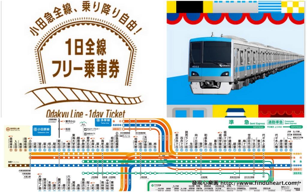 小田急1日全線フリー乗車券:暢遊鎌倉、箱根、下北澤